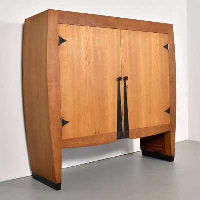 Exceptional cabinet designed by architect Piet Kramer, 1920s