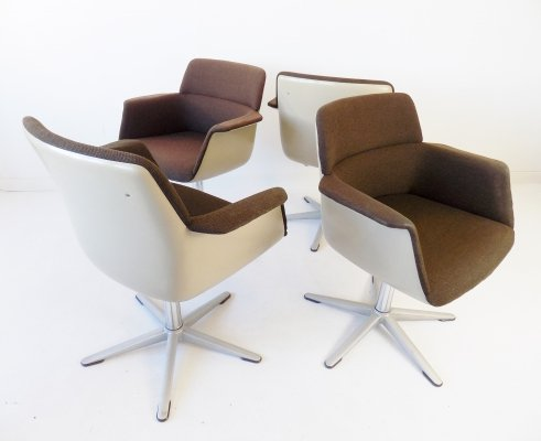 Wilkhahn set of 4 office / dining room chairs by Georg Leowald