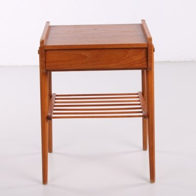 Danish bedside table with slats, 1960s