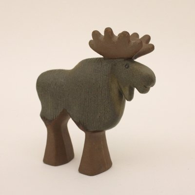 Lisa Larsons Elk from the 'Small Nordic Zoo' made by Gustavsberg, Sweden 1976