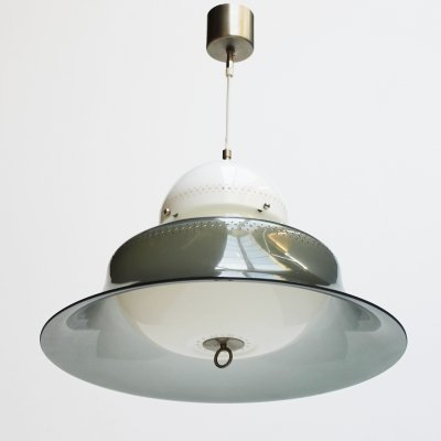 Plastic & nickel Pendant model KD14 by Sergio Asti for Kartell 1963, Italy