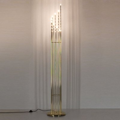 1970s vintage golden floor lamp