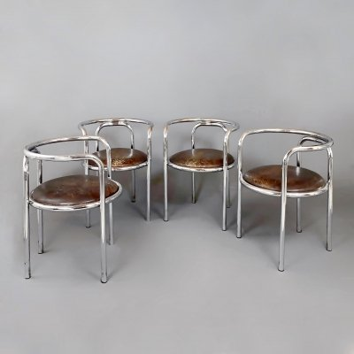Set of 4 Armchairs model 'Locus Solus' by Gae Aulenti for Poltronova, 1964