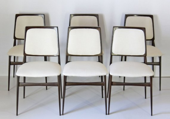 Set of 6 Vittorio Dassi dining chairs, 1960s