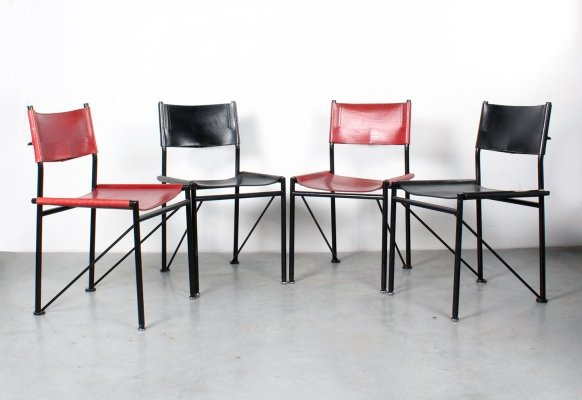 Set of 4 dining chairs by Arnold Merckx for Metaform, 1980s