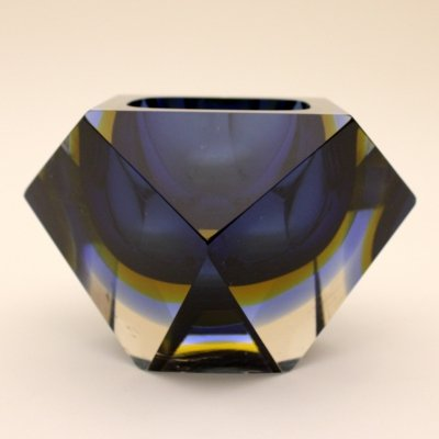 Large Murano sommerso bowl, Italy 1960s