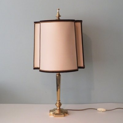 Brass Hollywood Regency table lamp, Belgium 1970s
