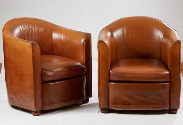 Pair of Club chairs from St James Hotel Paris, 1980s