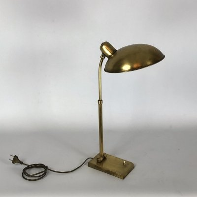 Vintage Italian brass table lamp, 1950s