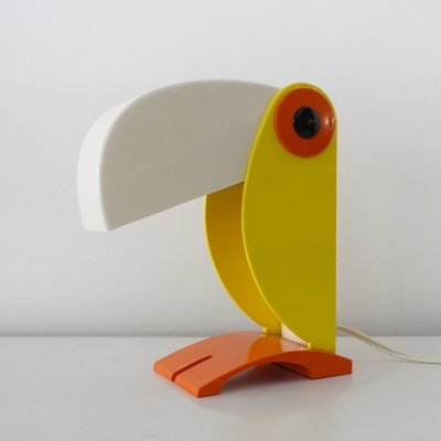 Early toucan children's table lamp, Italy 1968