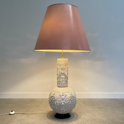 Large unique vintage ceramic floor lamp, 1960s