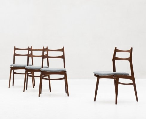 Set of 4 'Boomerang' dining chairs by Habeo, Germany 1960's