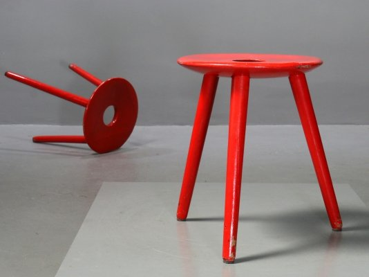 Stool EL 121 by Eduard Ludwig for Georg Haydvogel, 1950s