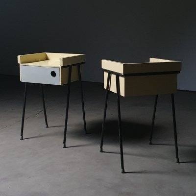 Modernist night stands designed by Rob Parry
