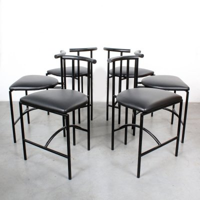 Set of 6 Tokyo dining chairs by Rodney Kinsman for Bieffeplast, 1980s