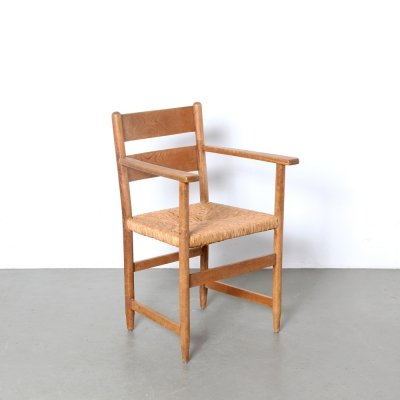 Woven Seagrass chair, 1940s
