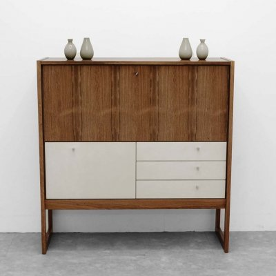 Musterring Bar cabinet in rosewood with lacquered doors