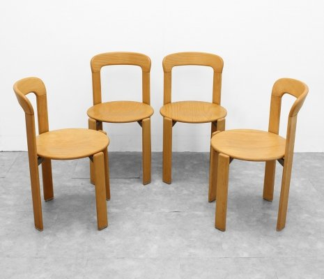 Set of 4 'model 2100' chairs by Bruno Rey, 1970s