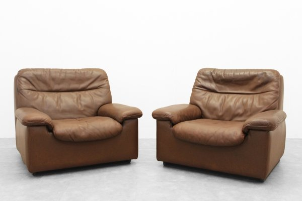 Pair of 'DS 66' lounge chairs by De Sede, 1970s