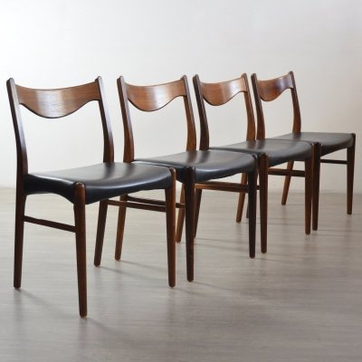 Set of 4 Rosewood Dining Chairs by Arne Wahl Iversen