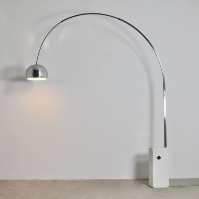 Italian Arco Floor Lamp by Achille Castiglioni for Flos, 1970s