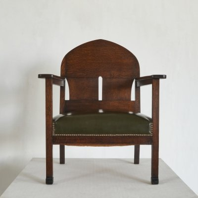Arm Chair by Harry Dreesen in Solid Oak