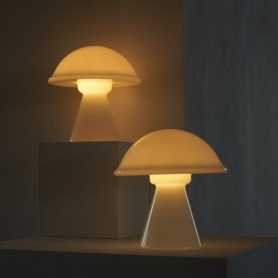 Signed Vistosi Mushroom Table Lamps, 1970s