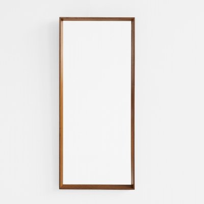 Midcentury Danish mirror in oak by J. Hølmer-Hansen for Risskov Spejle, 1960s