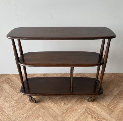 Ercol vintage cocktail trolley, 1960s