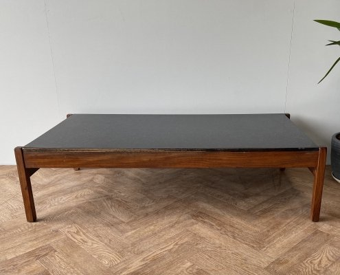 Guy Rogers vintage mid century large afromosia & formica coffee table, 1960s