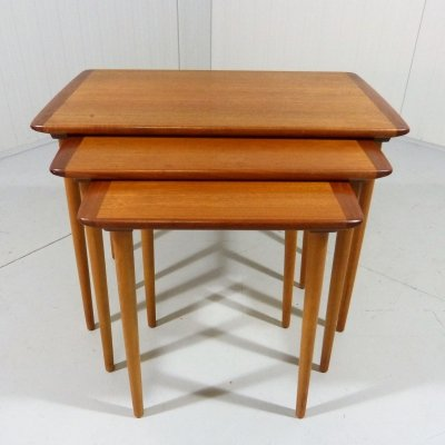 Teak nesting tables by Torpe Mobelfabrikk, Norway 1960's