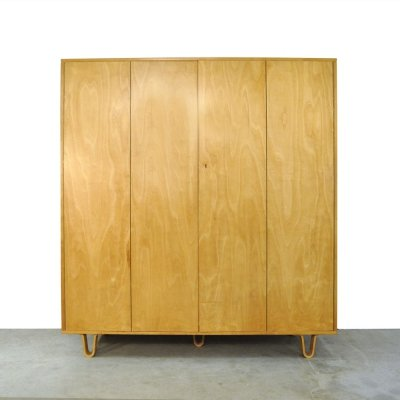 Vintage Birch/Combex series KB04 wardrobe by Cees Braakman for Pastoe, 1960s