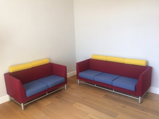 Pair of Eastside sofas by Ettore Sottsass for Knoll, 1980s