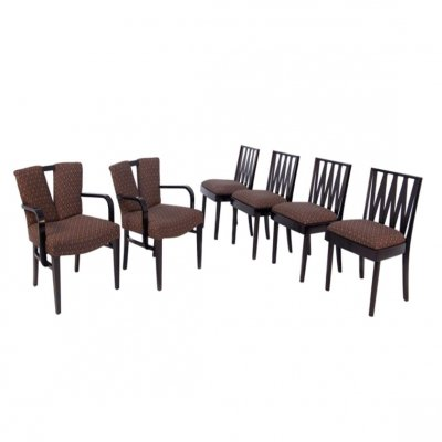 Six Paul Frankl 'Corset' & 'Zig Zag' Chairs for Johnson Furniture