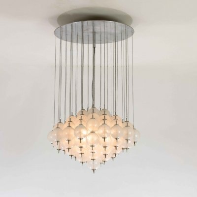 Murano pulegoso glass chandelier, 1960s