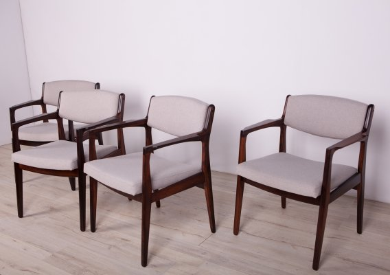 Set of 4 Rosewood Armchairs by Erik Buch for Ørum Møbelfabrik, 1960s