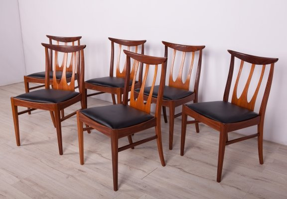 Set of 6 Mid-Century Brasilia Dining Chairs from G-Plan, 1960s