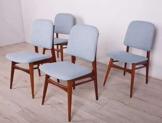 Set of 4 Mid Century Teak Dining Chairs, 1960s