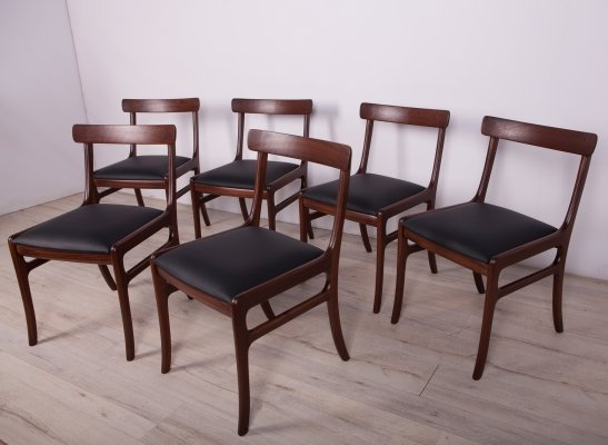 Set of 6 Danish Dining Chairs by O. Wanscher for P. Jeppesens Møbelfabrik, 1960s