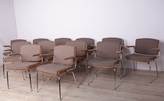 Set of 12 Mid-Century Conference Armchairs from Duba, 1960s