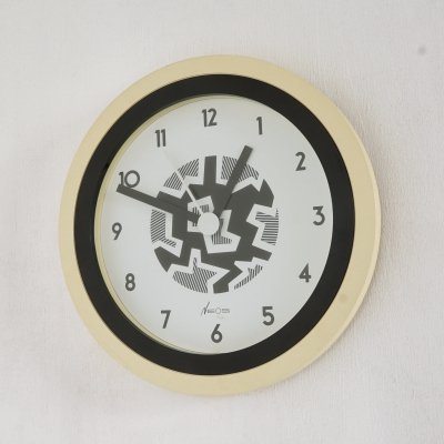 Memphis Wall Clock by Nathalie du Pasquier & George Sowden for NEOS of Lorenz