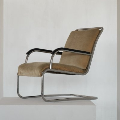 Cantilever Chair by Paul Schuitema with Original Upholstery