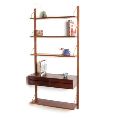 Vintage rosewood wall unit by Poul Cadovius for Cado Royal System, 1950's