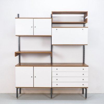 Dutch design Simpla Lux wall unit, 1960's