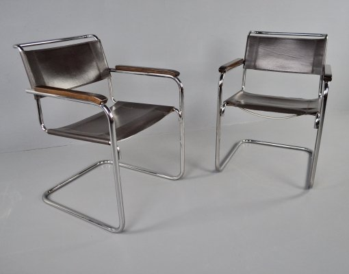 Thonet S34 dining chairs by Mart Stam, 1980s