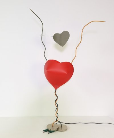 One from the heart table lamp by Ingo Maurer, 1980s