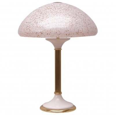 1970s Desk Lamp with Glass Shade