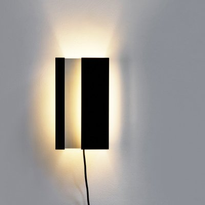 1960s folded metal wall sconce by J.J.M. Hoogervorst for Anvia