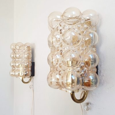 Pair of Helena Tynell Bubble Sconces for Glashütte Limburg