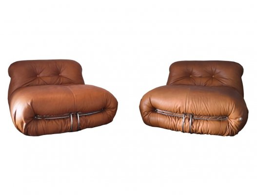 2 x Soriana lounge chair by Tobia Scarpa & Afra Scarpa for Cassina, 1970s